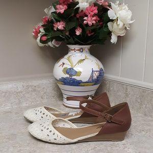 Tan, Brown, & Cream Seychelles Shoes